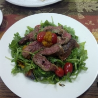 Arugula Steak Salad with Roasted Butternut Squash