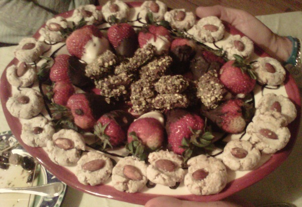strawberries and amaretti